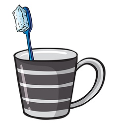 Toothbrush in Cup vector image vector image