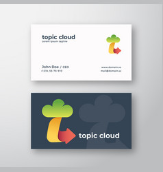 topic cloud abstract logo and business card vector image