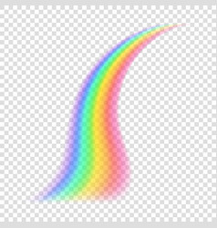 transparent rainbow vector image