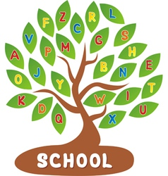 Tree school vector