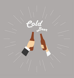 Two hands with cold vector