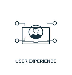 user experience icon thin outline style design vector image