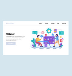 Web site design template software project vector