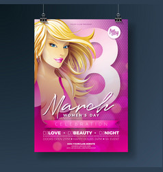 womens day party flyer with sexy vector image