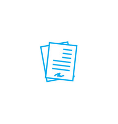 Working documentation linear icon concept working vector