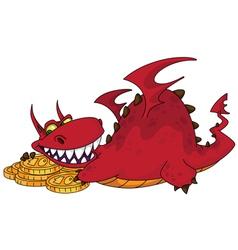 big dragon with money vector image vector image