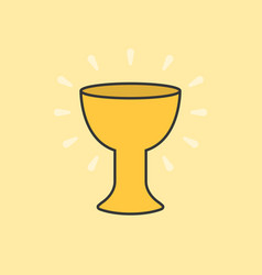 Holy grail color and outline icon vector