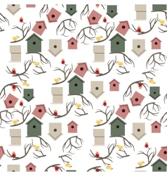 Nesting box seamless pattern vector image