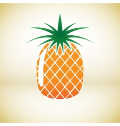 Pineapple symbol vector image vector image