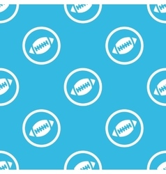 Rugby sign blue pattern vector image