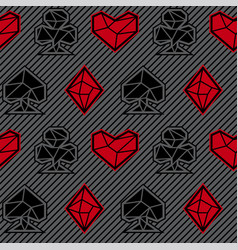 seamless pattern of playing card signs vector image vector image
