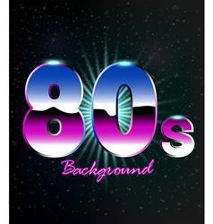 80s Retro Background vector image