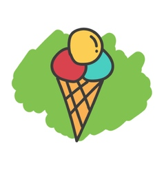 Cartoon doodle ice cream vector image