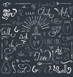 Catchwords and ampersands vector image