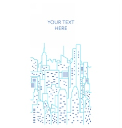 Cityscape flat line Template vector image