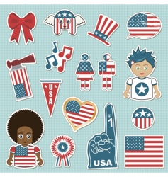 USA supporter stickers vector image vector image