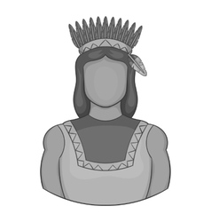 American indian icon black monochrome style vector image vector image