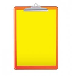 bright clipboard vector image vector image