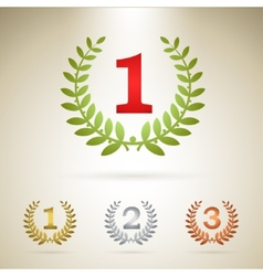 First place emblem vector image vector image