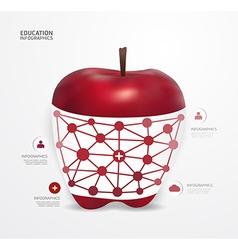 Modern Design apple dot Minimal style infographic vector image vector image