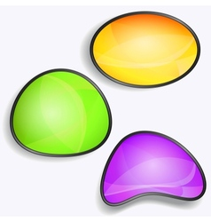 Set of colorful glossy buttons vector image vector image