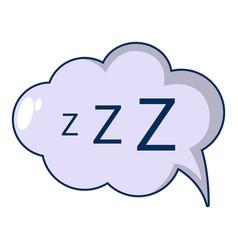 snoring icon cartoon style vector image vector image