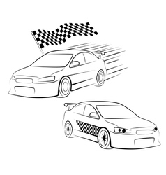sports car silhouette vector image