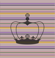 striped background with a crown vector image