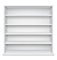 White Showcase wiyh Empty Shelves vector image