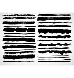A set of grunge strokes vector image vector image