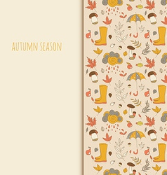 Autumn objects Seasonal texture Use as a greeting vector image vector image