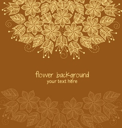 decoration flowers vector image