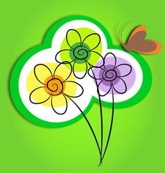 flowers art vector image vector image
