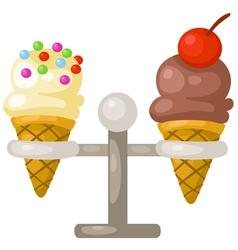 ice cream cone vector image vector image