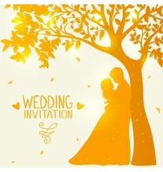 love under the tree vector image
