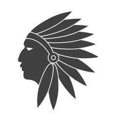 Native american indians vector