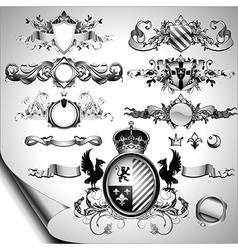 set of ornamental labels vector image vector image