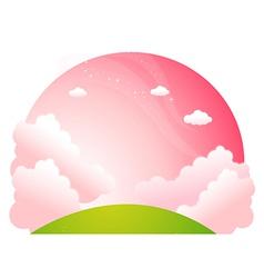 Sunrise over green landscape vector image vector image