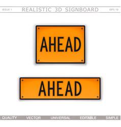 ahead warning signs vector image
