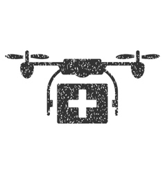 Ambulance Drone Grainy Texture Icon vector image