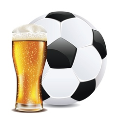 Beer and Soccer Ball2 vector