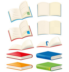 Books and opened books vector