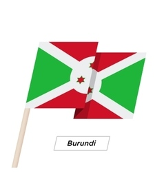 Burundi Ribbon Waving Flag Isolated on White vector image