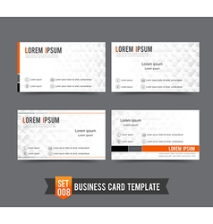 Business Card template set 008 Clear and minimal vector image