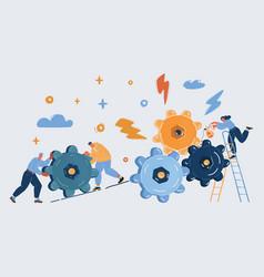 Business team brainstorming vector