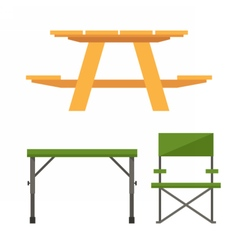 Camping and Picnic Table vector