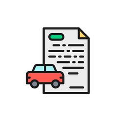 car loan credit for automobile flat color line vector image