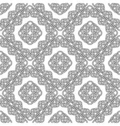 celtic seamless on white vector image