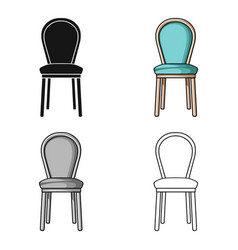 classical chair icon in cartoon style isolated on vector image
