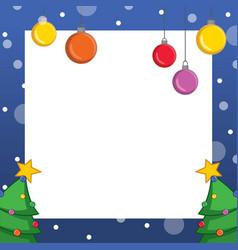 collection christmas frame design art vector image